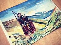 Gouache Greetings Card