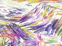 NZ Mountain Sketchbook Drawing