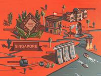 Singapore Illustrated Map