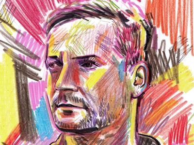 Bonobo Portrait Sketch