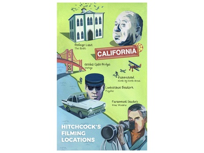 Hitchcock's Filming Locations Map