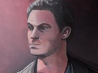 Dominic West Portrait Illustration