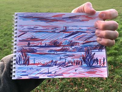 Landscape Sketchbook Drawing
