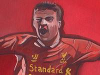 Steven Gerrard, Liverpool Original Painting