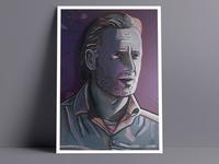 A3 Rick Grimes Art Print - Walking Dead Art