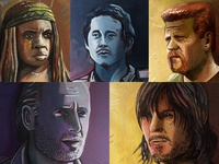 Walking Dead Illustrated Portraits