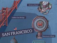 San francisco illustrated map