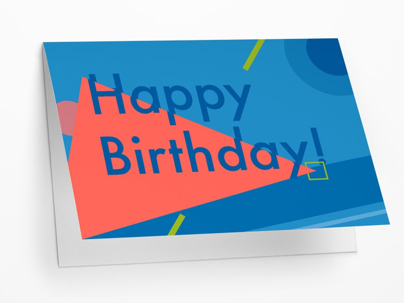 Happy Birthday A5 Greetings Card W Envelope