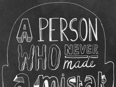 Albert Einstein Typographic Quote