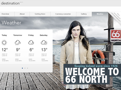 Destination - Weather 66 beta travel destination weather iceland reykjavik north web design sponsored