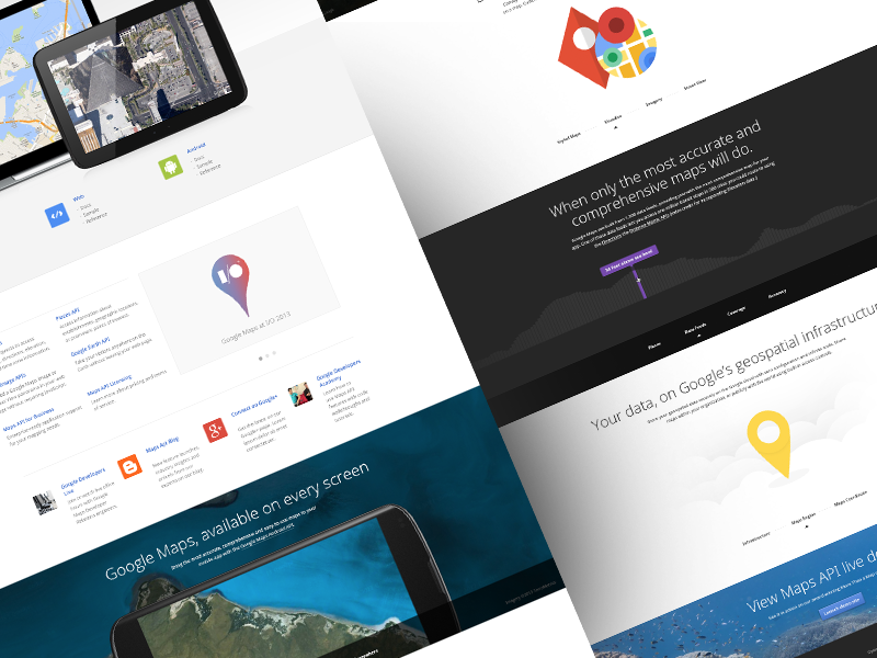 Google Maps - developers by ueno. on Dribbble on map description, map features, map artist, map illustrator,