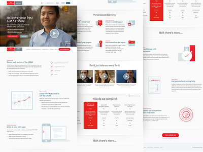 Economist landing page learning play video illustration red white simple clean flat economist teaching chart animation clock table icons essay phone computer score responsive landing page check mark long scrolling education web design web app product design