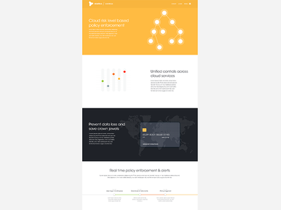 Elastica - Controls responsive signup sign up controls landing page card credit timeline line dials tabs yellow
