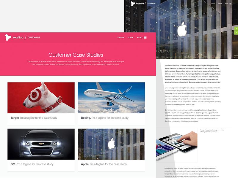 Elastica - Customers customers case study target boeing apple gm blog responsive