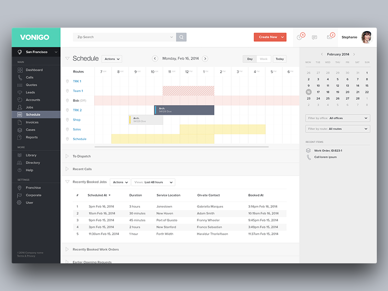 Vonigo Schedule By Ueno Dribbble Dribbble
