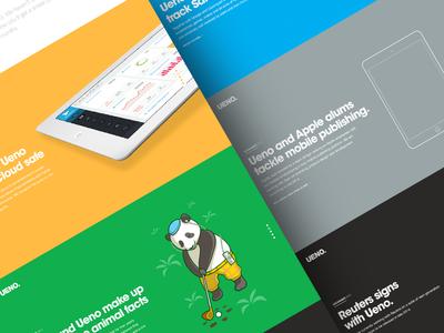 UENO. Sneak peek portfolio link-jacking fitbit apple reuters google santa branding agency