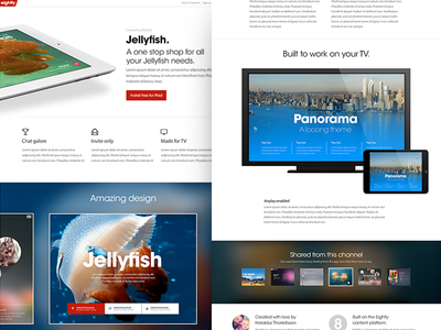 Eigthly : App Landing Page eightly publishing jellyfish platform tv share create app channel invite