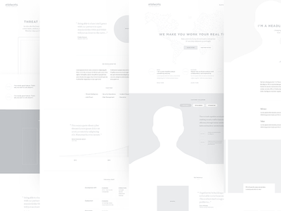 Intelworks : Greyscale mocks security wireframe map world graph contact people grey greyscale mocks