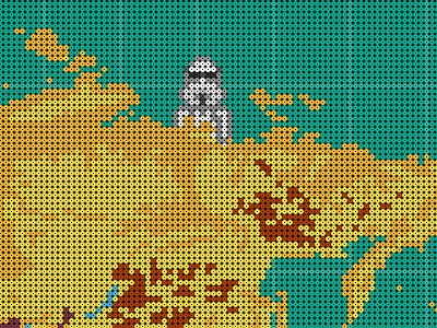 World map - 84.345 beads  beads world map hand made luv storm trooper