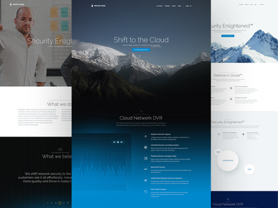 Protectwise : It's alive! wisdom cloud website network dvr animation css enlightened zen calm security design