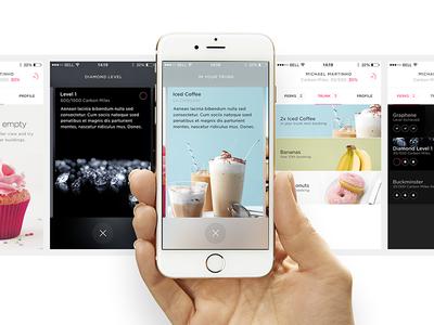 Carbon : Settings iced coffee banana cup cake milk shake diamonds iphone ios settings valet carbon