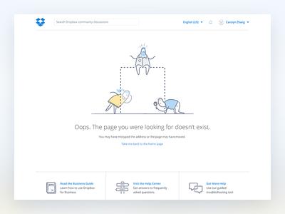 Dropbox Community : 404 community help guide looking glass missing oops 404 dropbox