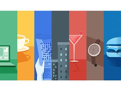 Google : Days of the Week sunday saturday friday thursday wednesday tuesday monday illustration week days google
