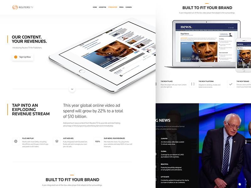 Reuters TV : Syndication hillary bernie news syndication brand stream content revenue ipad obama