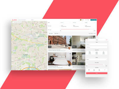 Airbnb Responsive : Listings tourist travel filter mobile listing map responsive airbnb