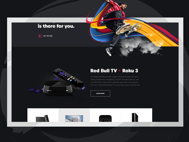 Red Bull TV: Get the Apps video magenta blue white red stream tv apps platform redbull