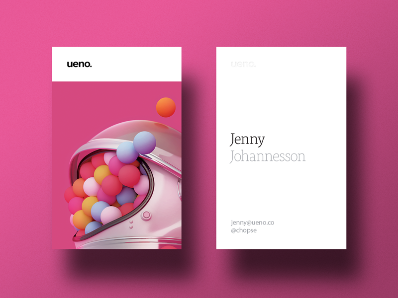 Ueno Rebrand : Business cards #1 by ueno. - Dribbble