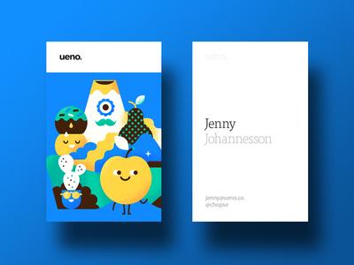 Ueno Rebrand : Business cards #2 card branding ueno bizness cactus pear apple mountain business card business cards