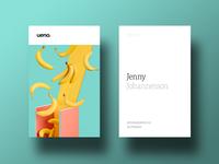 Ueno Rebrand : Business cards #3