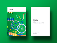 Ueno Rebrand : Business cards #4