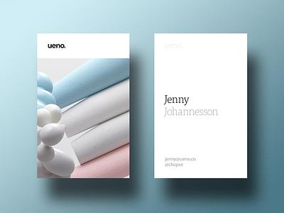 Ueno Rebrand : Business cards #5 card branding ueno bizness art business card business cards