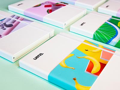 Ueno Rebrand : Notebooks #2 book ueno bananas moleskin notebook branding