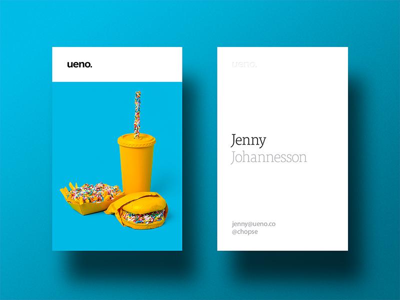 Ueno Rebrand : Business cards #7