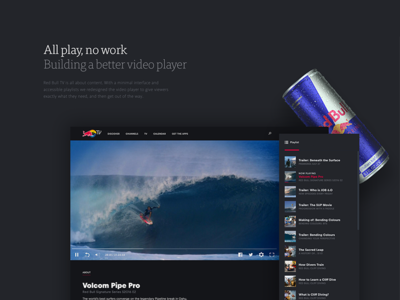 Ueno Rebrand : Case Study #2 extreme sports better player work play tv redbull