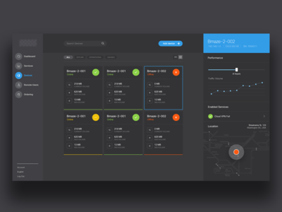 Client X : Black Dashboard