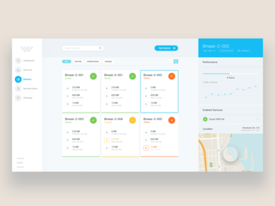 Client X : Dashboard