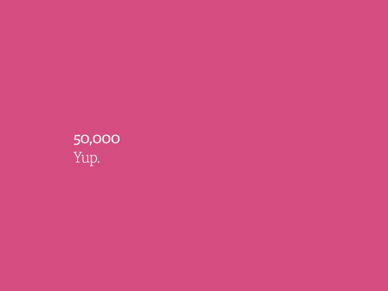 50,000. Yup.
