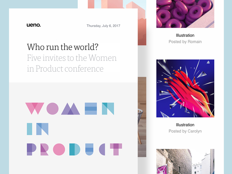 Ueno Newsletter #5 email conference product women newsletter