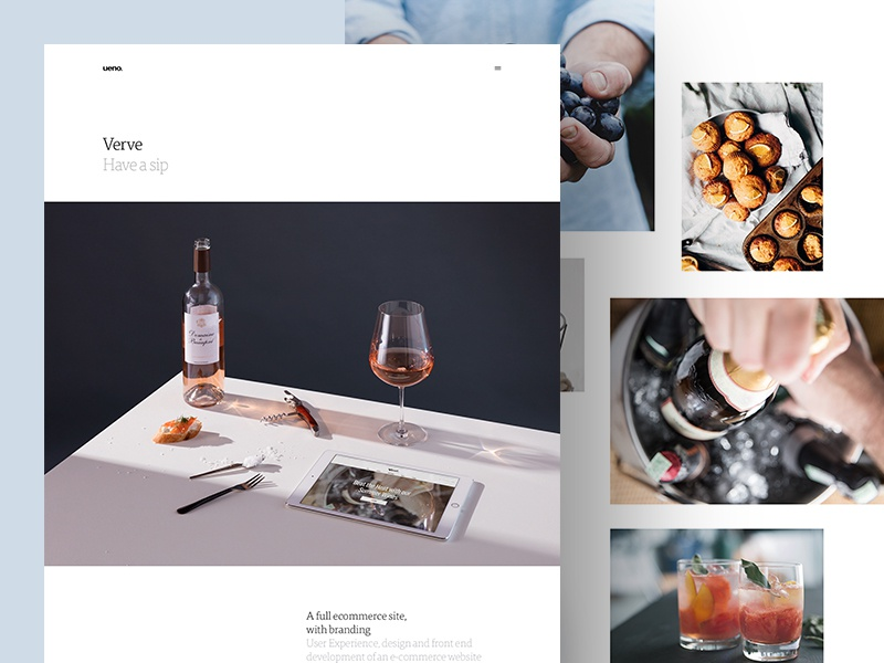 Case Study for Verve photography maps icons illustrations type ecommerce grid wine layout