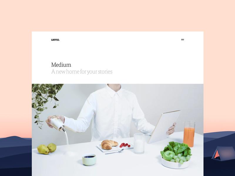 Case Study - Medium social website navigation branding home desktop medium case study