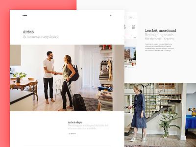 Case Study – Airbnb branding case study responsive website ueno travel airbnb