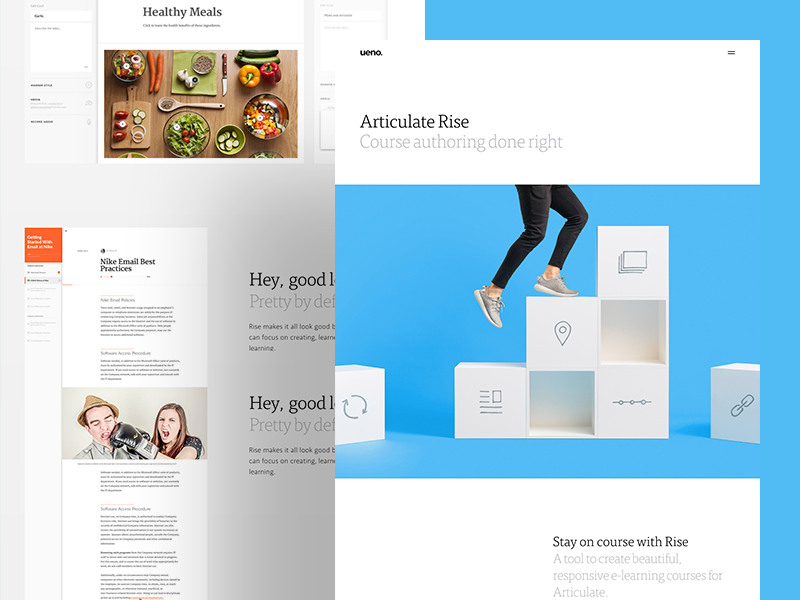 Rise : Case Study healthy steps boxes case study authoring rise articulate