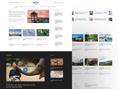 Lonely Planet : News search pics planet lonely lonely planet grid bahamas elephant layout news travel