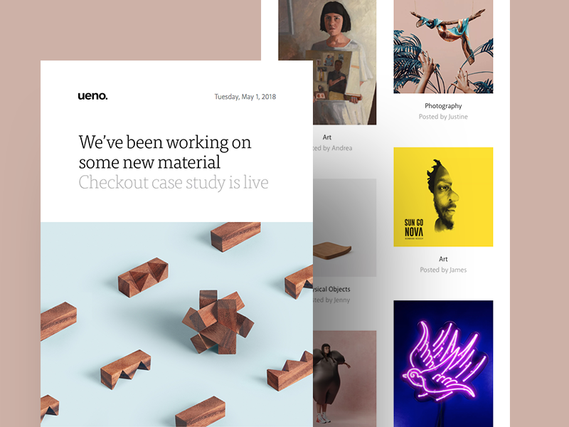 Ueno Newsletter : May 1st 2018 dribbble ueno event apart events newsletter checkout