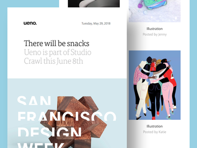 Ueno Newsletter : May 29th 2018 newsletter email week design san francisco