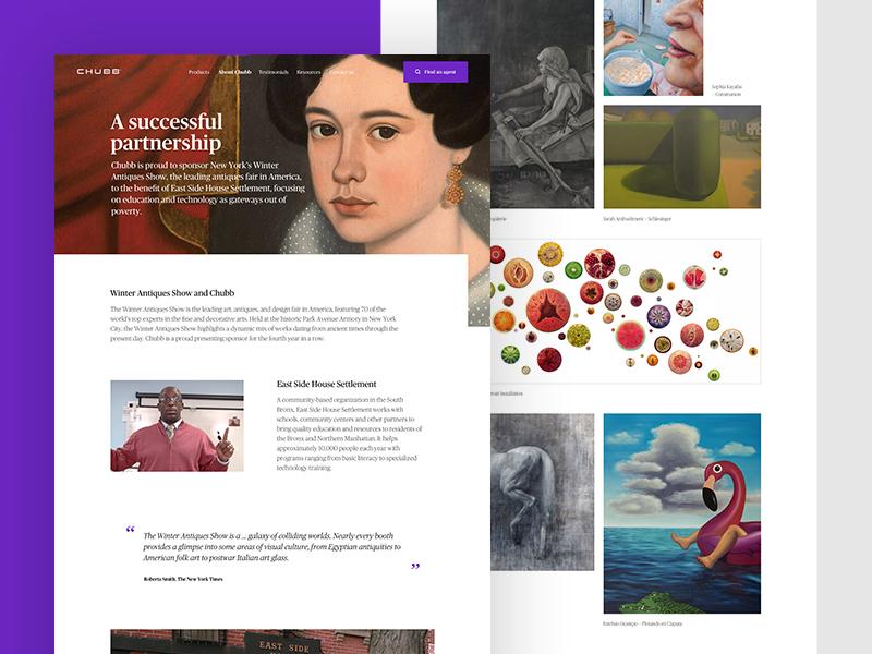 Chubb Community Pages community design web template ux ui